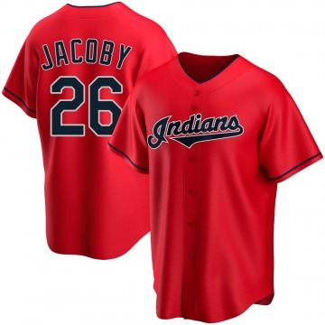 Men's Brook Jacoby Cleveland Indians Replica Red Alternate Jersey