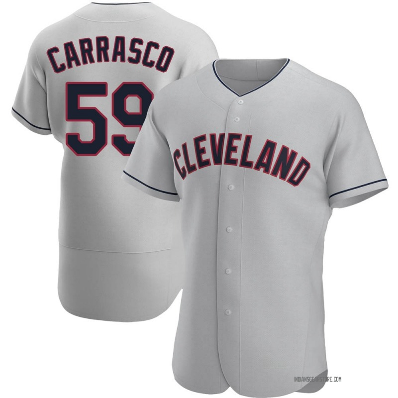 Men's Carlos Carrasco Cleveland Indians Authentic Gray Road Jersey