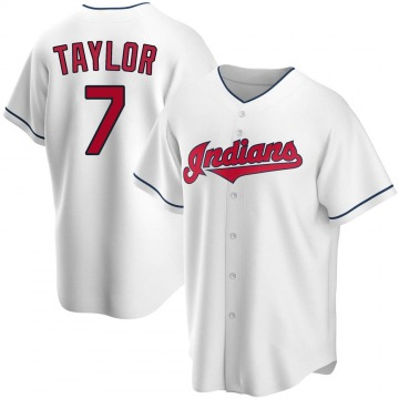 Men's Jake Taylor Cleveland Indians Replica White Home Jersey