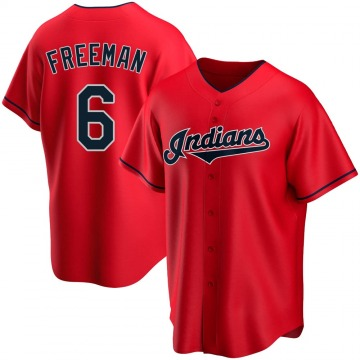 Men's Mike Freeman Cleveland Indians Replica Red Alternate Jersey