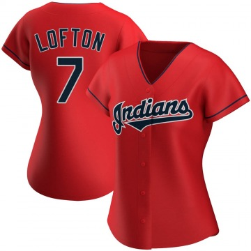 Women's Kenny Lofton Cleveland Indians Replica Red Alternate Jersey