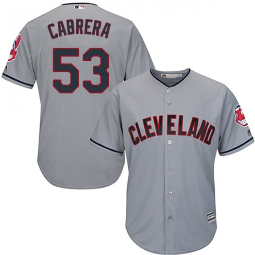 Men's Majestic Melky Cabrera Cleveland Indians Player Authentic Gray Cool Base Road Jersey